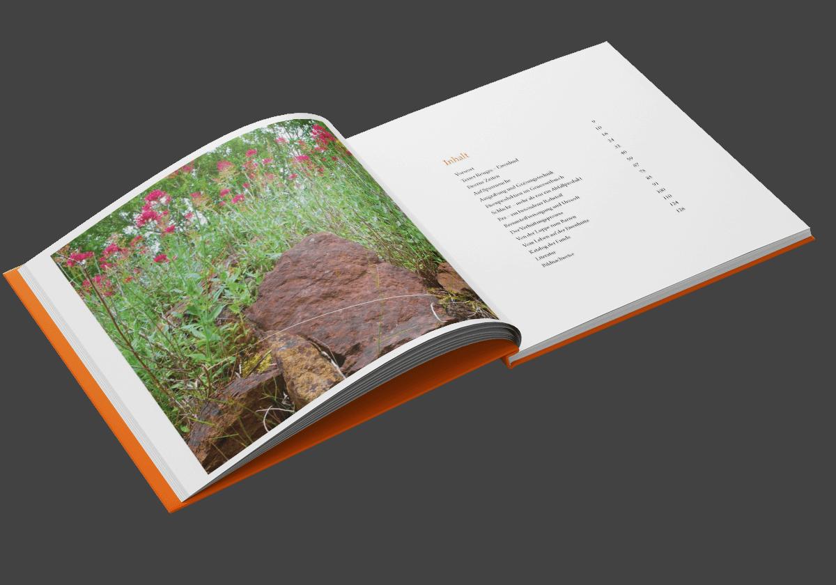 Buchgestaltung Referenz Genoeserbusch Inhaltsverzeichnis