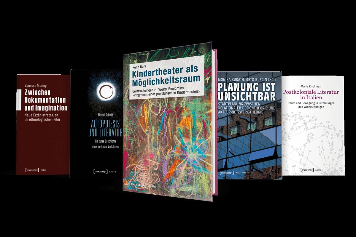 Buchgestaltung Referenz transcript Verlag Collage
