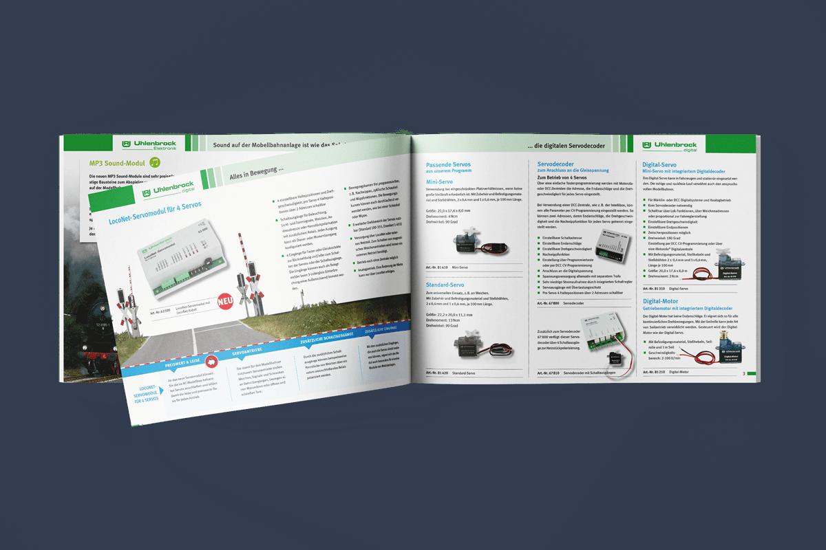 Grafikdesign Prospekt Gestaltung
