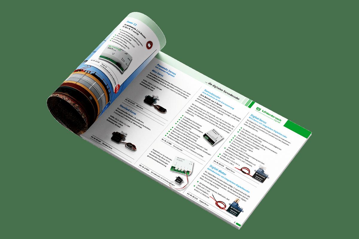 Grafikdesign Prospekt Seite