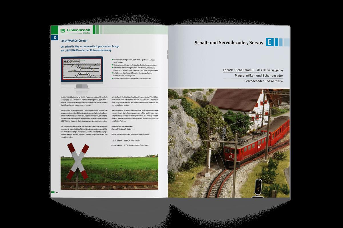 Grafikdesign Referenz Produktkatalog Uhlenbrock Bilder