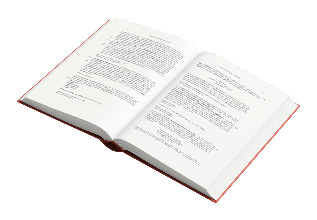 Buchgestaltung aufgeschlagen Referenz Winckelmann