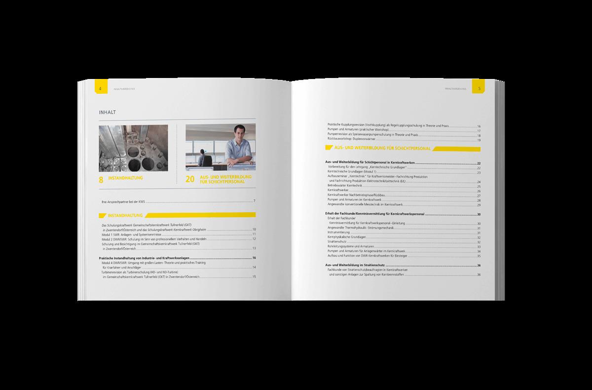 Buchgestaltung Referenz KWS Inhaltsverzeichnis