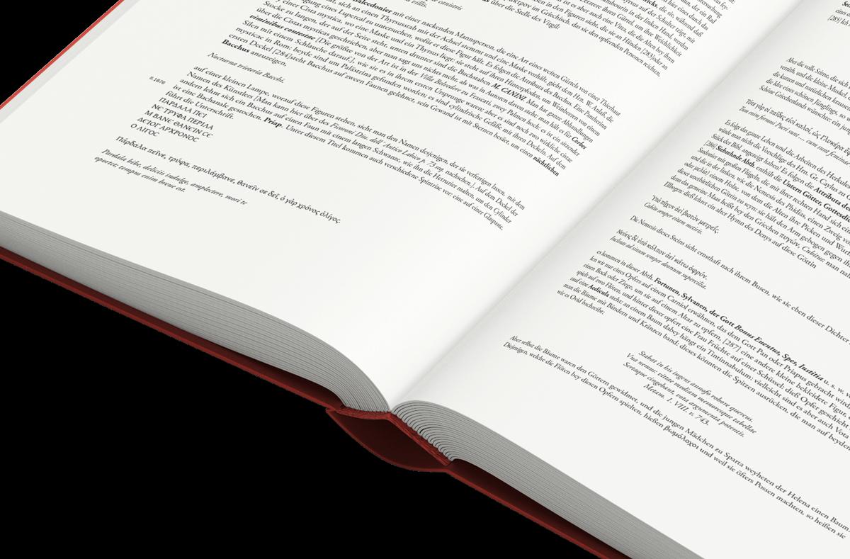 Buchgestaltung Text Referenz Winckelmann