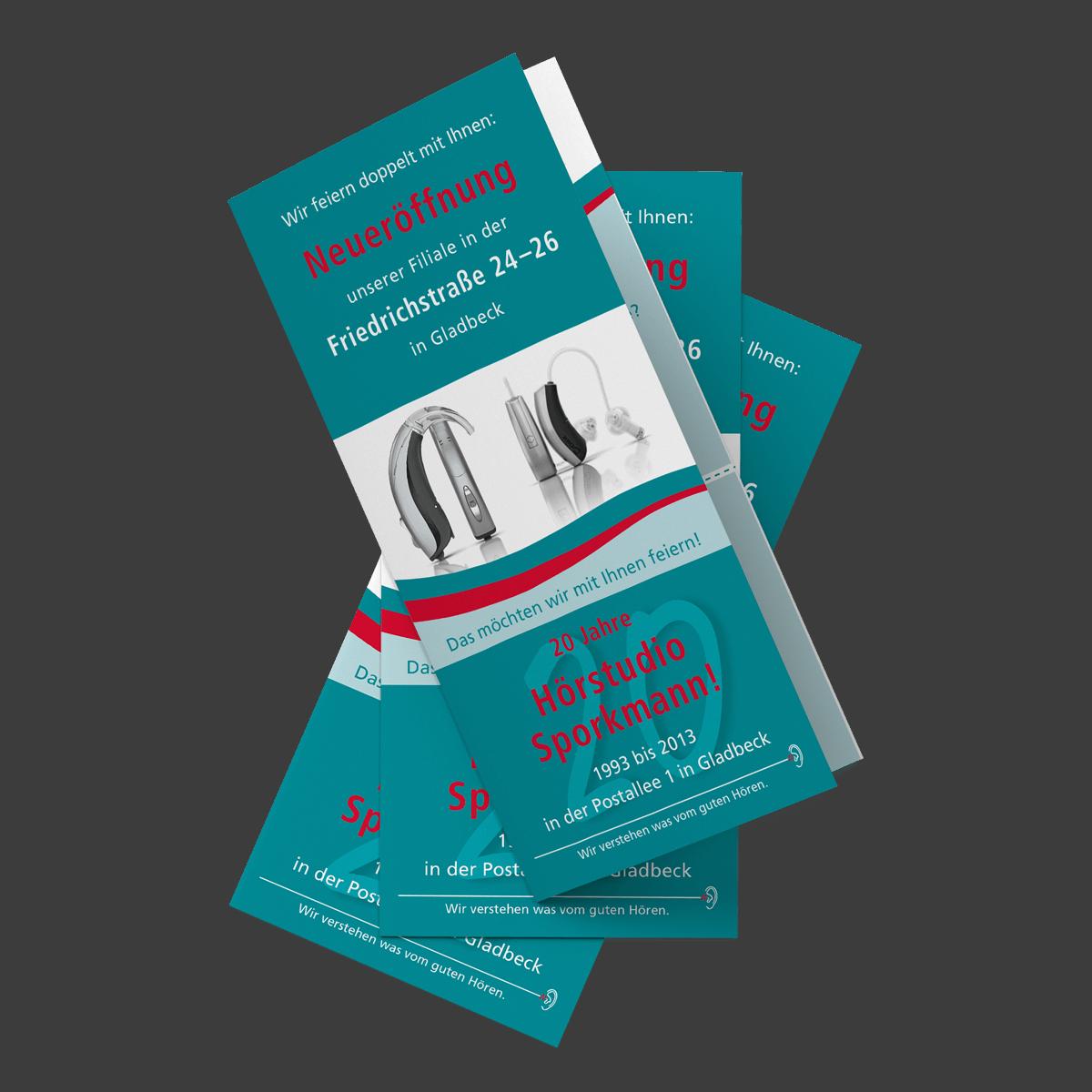 Grafikdesign Flyer Cover Referenz Sporkmann