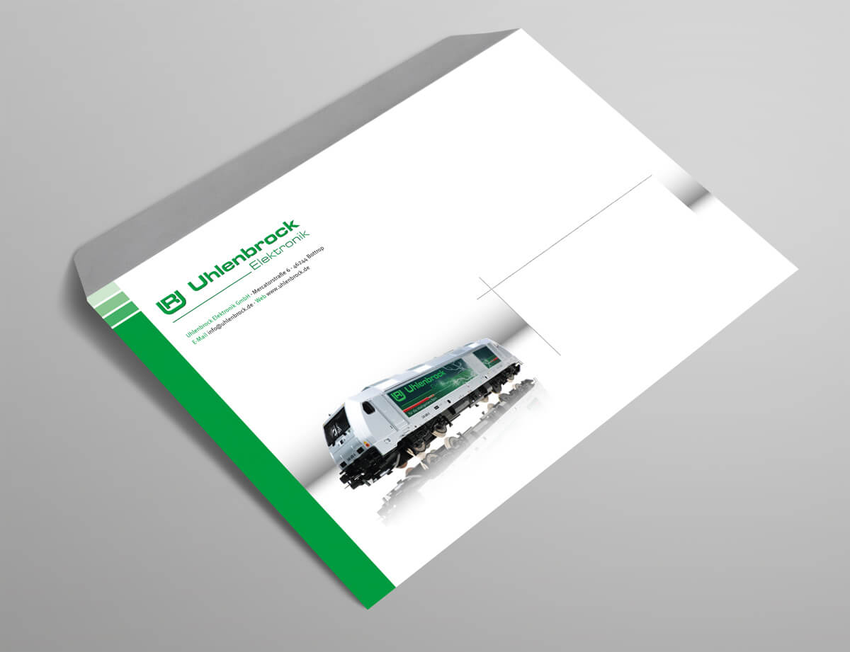 Grafikdesign Referenz Briefumschlag