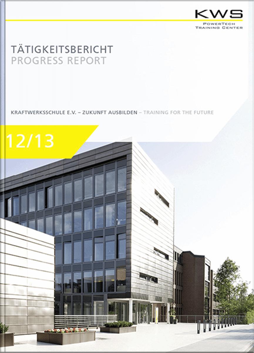 Grafikdesign Referenz Tätigkeitsbericht Cover