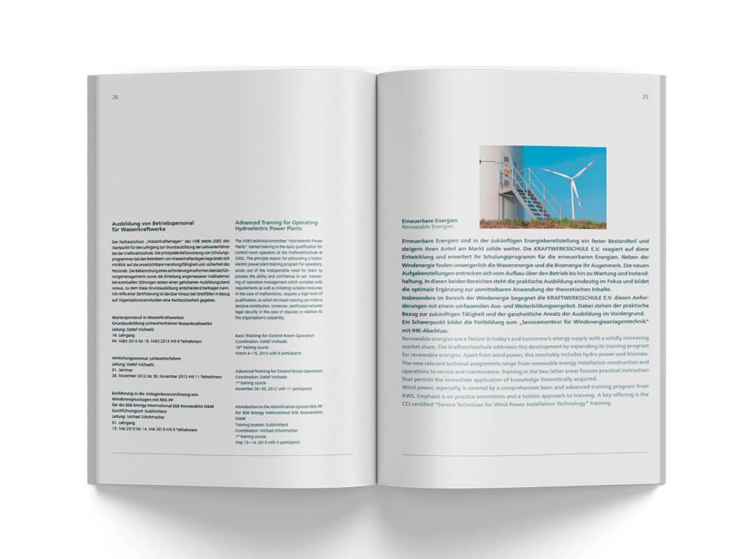 Grafikdesign Referenz Tätigkeitsbericht innen 2