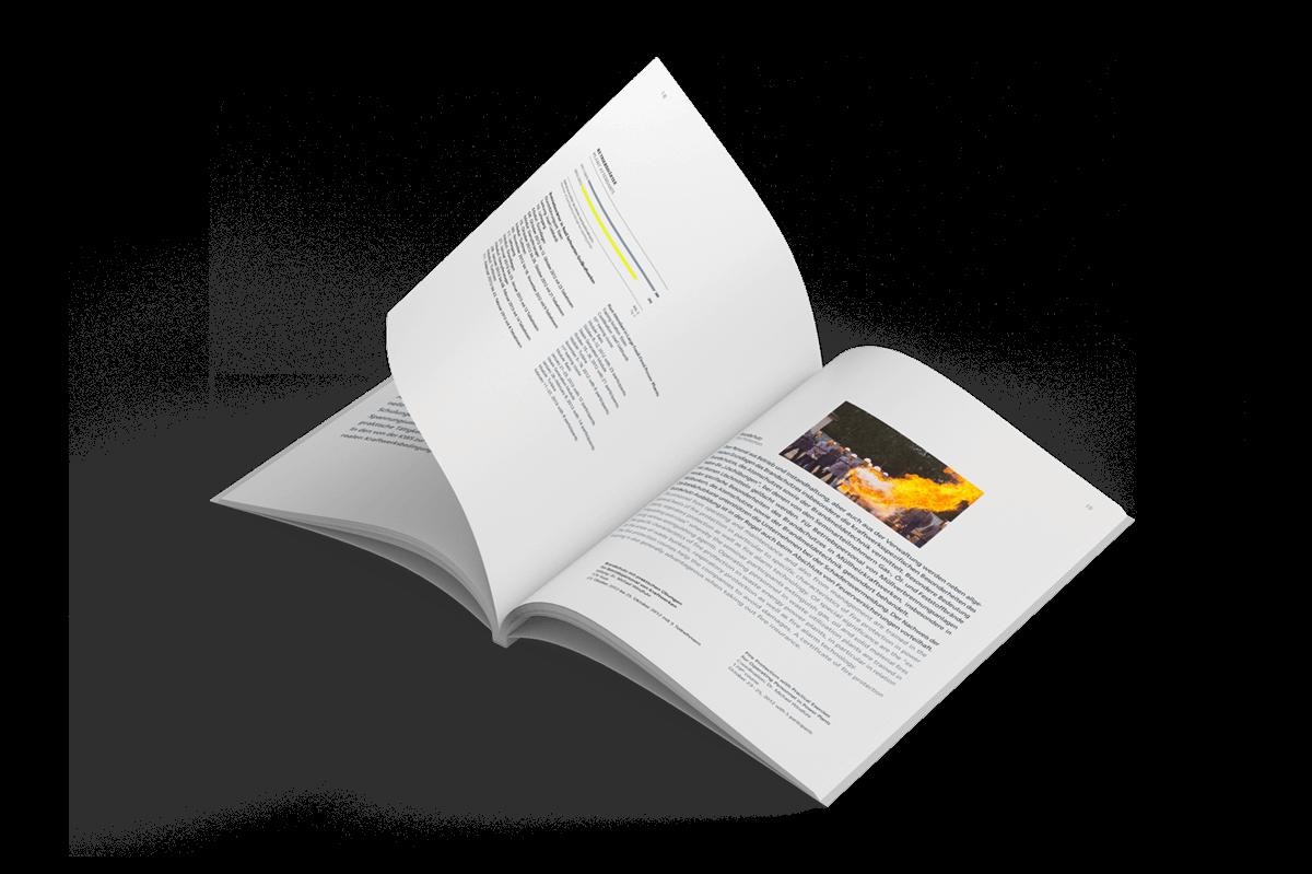 Grafikdesign Referenz Tätigkeitsbericht innen 4